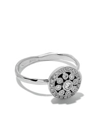 Wouters And Hendrix Gold 18Kt White Gold Diamond Rosetta Ring