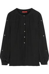 Tamara Mellon Silk Georgette Blouse Black