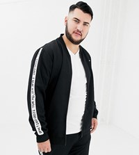 Only And Sons Tracksuit Jacket With Japan Side Stripe Black