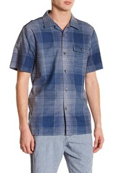 Tommy Bahama Orinoco Ombre Plaid Button Down Original Fit Shirt Bering Blu