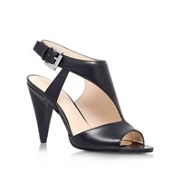 Nine West Shapeup Wide Fit High Heel Court Shoes Black Leather