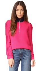 3.1 Phillip Lim Blouse With Front Zip Bright Cerise
