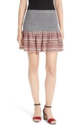 Veronica Beard Women's Ruched Miniskirt