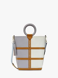 Ted Baker Spritz Leather Shoulder Bag Grey