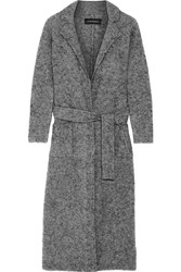 By Malene Birger Fulana Belted Wool And Mohair Blend Coat Gray