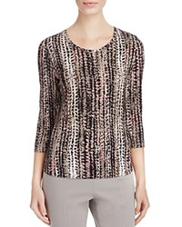 Basler Abstract Print Tee Taupe Black