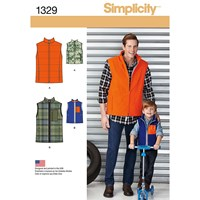 Simplicity Men's And Boy's Gilets Sewing Patterns 1329