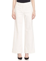 3.1 Phillip Lim Cuffed Wide Leg Trousers Black