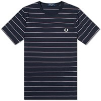 Fred Perry Authentic Fine Striped Tee Blue