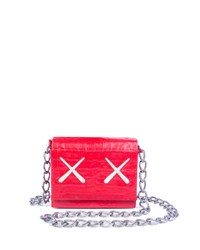 Nancy Gonzalez Kaws Xx Gio Crocodile Crossbody Bag Red Grey Cream