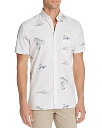 Barney Cools Pelican Slim Fit Button Down Shirt White