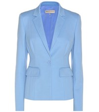Emilio Pucci Cotton And Linen Blend Blazer Blue