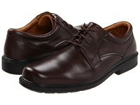 Hush Puppies Strategy Brown Leather Lace Up Casual Shoes