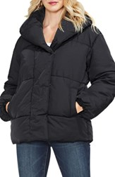 Vince Camuto Matte Quilted Puffer Jacket Rich Black