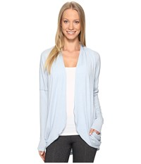Lucy Enlightening Wrap Blue Fog Heather Women's Long Sleeve Pullover