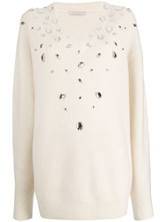 Christopher Kane Crystal Gem Cashmere Sweater 60