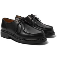 Heschung Thuya Leather Derby Shoes Black