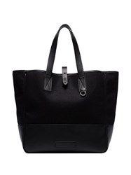 Alexander Mcqueen Panelled Shopper Tote Black