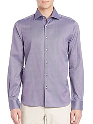 Saks Fifth Avenue Buttoned Cotton Shirt Brown
