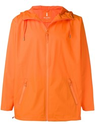 Rains Basic Hooded Jacket Orange