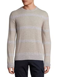 Saks Fifth Avenue Cashmere Colorblock Sweater Camel