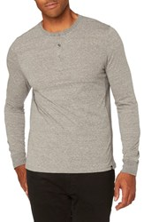Threads For Thought Men's Henley Heather Gray