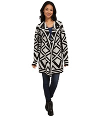 Nic Zoe Mirrored Angles Jacket Black Mix Women's Coat
