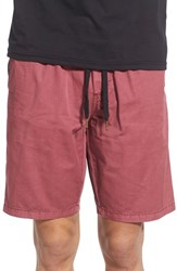 Men's Ezekiel 'Karma' Drawstring Shorts Burgundy