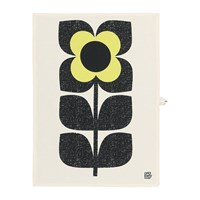 Orla Kiely Scribble Square Flower Tea Towel Set Of 2 Primrose
