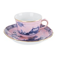Richard Ginori 1735 Oriente Italiano Azalea Coffee Cup And Saucer