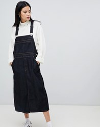 Dr. Denim Dr Bib Dungaree Dress In Raw Wash Rinsed Blue