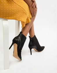 Head Over Heels Ossana Pointed Heeled Boots Black
