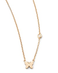 Shy By Sydney Evan Butterfly Bezel Diamond Pendant Necklace
