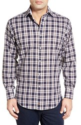 Men's Thomas Dean Classic Fit Plaid Sport Shirt