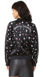 Opening Ceremony Embellished Silk Bomber Black