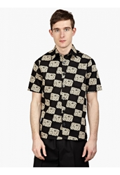 Raf Simons Men's Black Printed Cotton Shirt