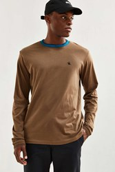 Stussy Cheeba Long Sleeve Tee Brown