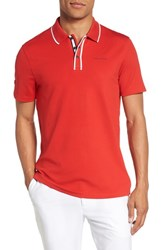Ted Baker London Bunka Trim Fit Golf Polo Red