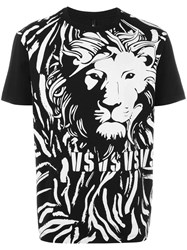Versus Lion Print T Shirt Black