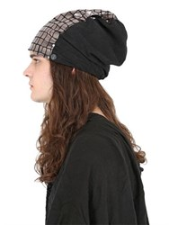 Cutuli Cult Laminated And Suede Leather Beanie Hat