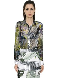 Max Mara Tropical Silk Chiffon And Twill Shirt