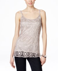 Inc International Concepts Crocheted Tank Top Only At Macy's Cement