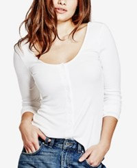 Guess Snap Front Top True White