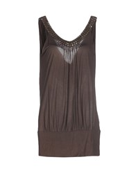 Seventy Topwear Tops Women Dark Brown