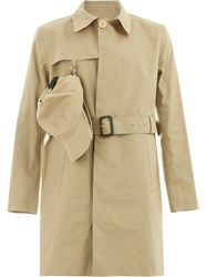 Matthew Miller Cap Detail Trench Coat Nude And Neutrals
