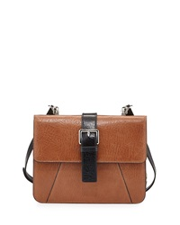 Charles Jourdan Vixen Flap Top Leather Crossbody Bag Tan
