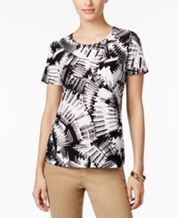 Jm Collection Jacquard Print Top Only At Macy's Urban Swirl