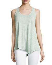 W By Wilt Mix Ribbed Racerback Asymmetric Tank Sage