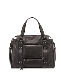 Kooba Rhodes Grained Leather Satchel Bag Black