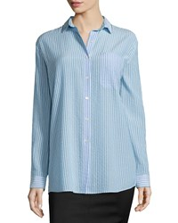 Atm Anthony Thomas Melillo Atm Textured Striped Loose Blouse Women's